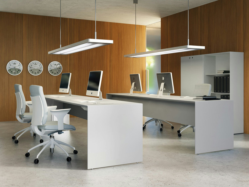 Rectangular workstation desk QUARANTA5 | Rectangular office desk by FANTONI