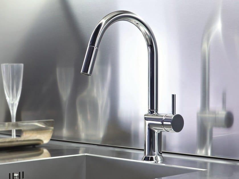 caf miscelatore da cucina con doccetta estraibile by fantini rubinetti design davide mercatali