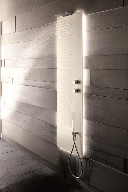 Colonna doccia a parete multifunzione ACQUAPURA  Colonna doccia a parete - Fantini Rubinetti