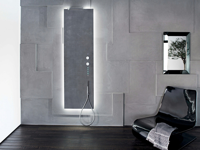 Wall-mounted multifunction shower panel ACQUAPURA | Wall-mounted shower panel - Fantini Rubinetti