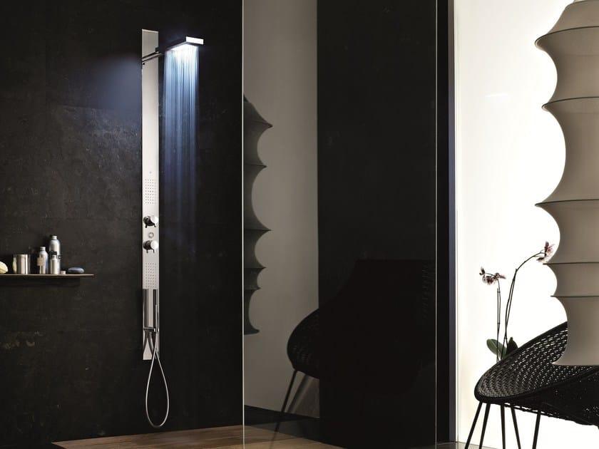 Wall-mounted multifunction shower panel ACQUAZZURRA   Shower panel - Fantini Rubinetti