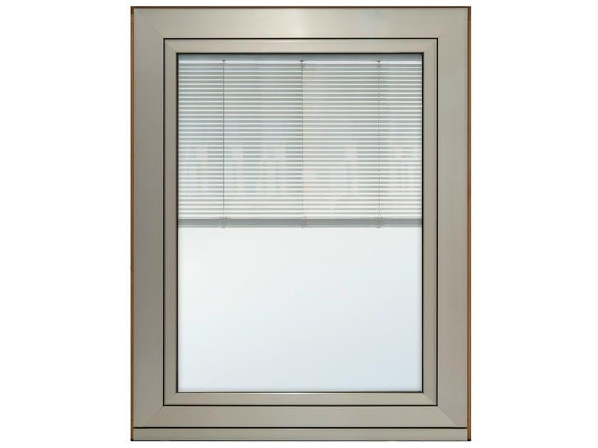 Finestra in alluminio e legno con veneziana integrata - Veneziana finestra ...