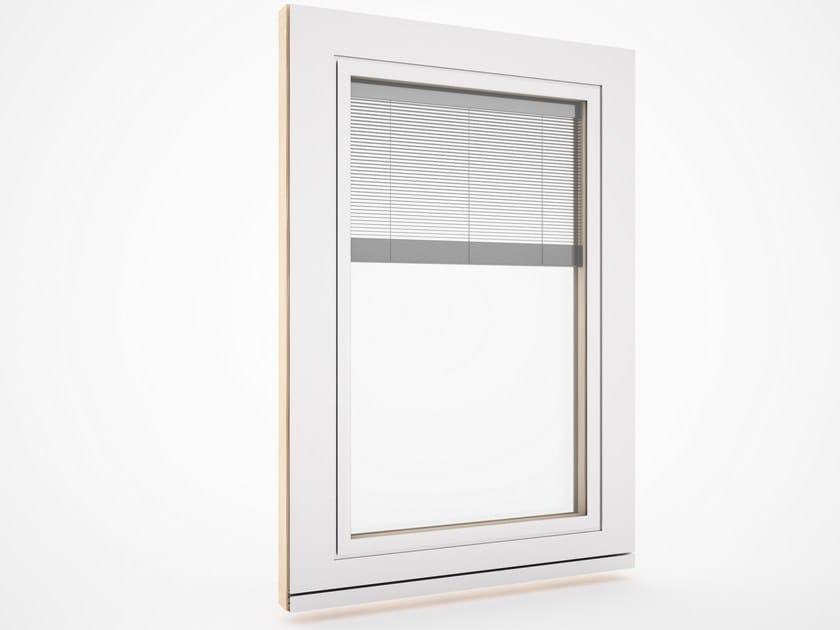 Finestra in alluminio e legno con veneziana integrata - Vetrocamera con veneziana ...