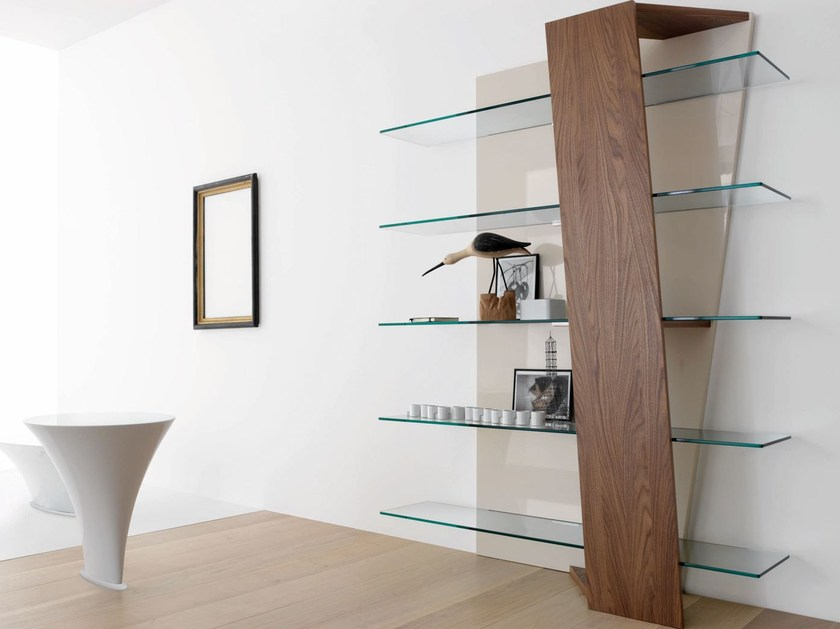 Design open wall-mounted MDF bookcase BOOK - ITALY DREAM DESIGN - Kallisté