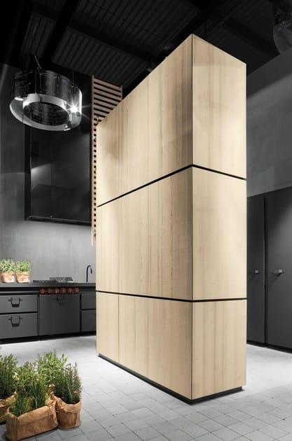 Cucina a scomparsa senza maniglie natural skin monoliti cucina a scomparsa minacciolo - Moduli componibili cucina ...