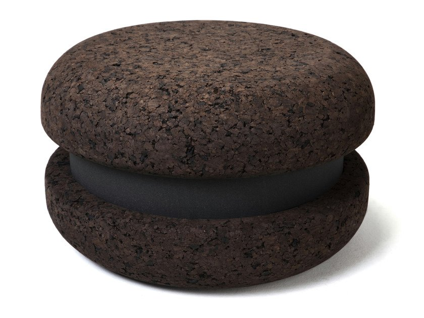 Low cork stool MACARON | Low stool - Haymann