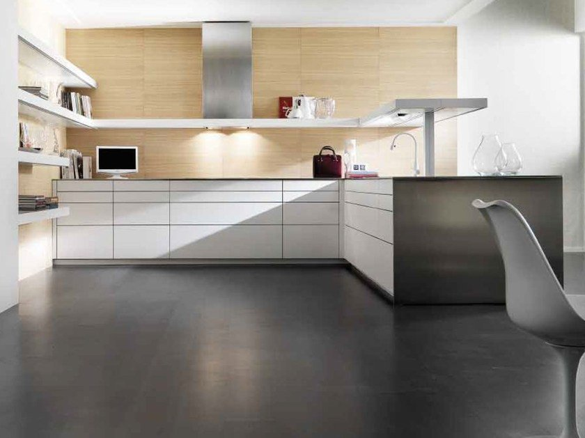 Lacquered kitchen without handles LIVING - TONCELLI CUCINE