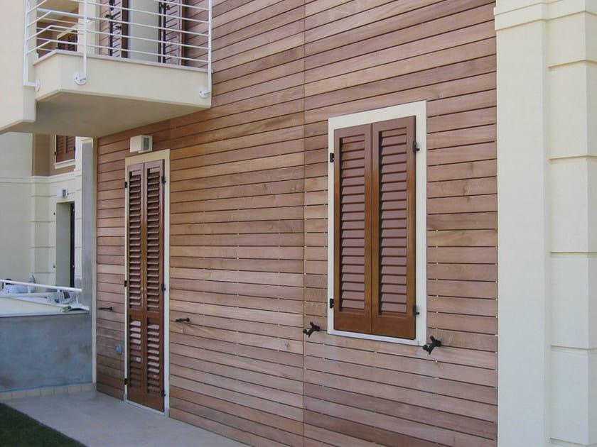 Pannello in legno per facciate rivestimenti ravaioli legnami for Listelli metallici