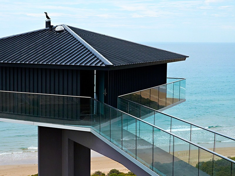 Glass balustrade EASY GLASS® SLIM by Q-RAILING ITALIA