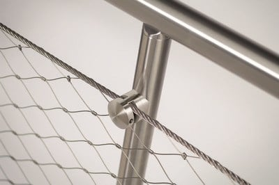 Stainless steel balustrade Q-LINE ® EASY Q-WEB by Q-RAILING ITALIA