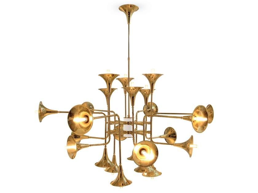 altezza lampadario : Lampadario in ottone BOTTI Lampadario - Delightfull