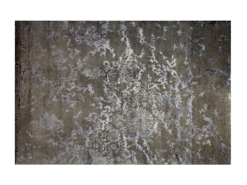 Patterned handmade rectangular rug ANGUILLA GREY - EDITION BOUGAINVILLE