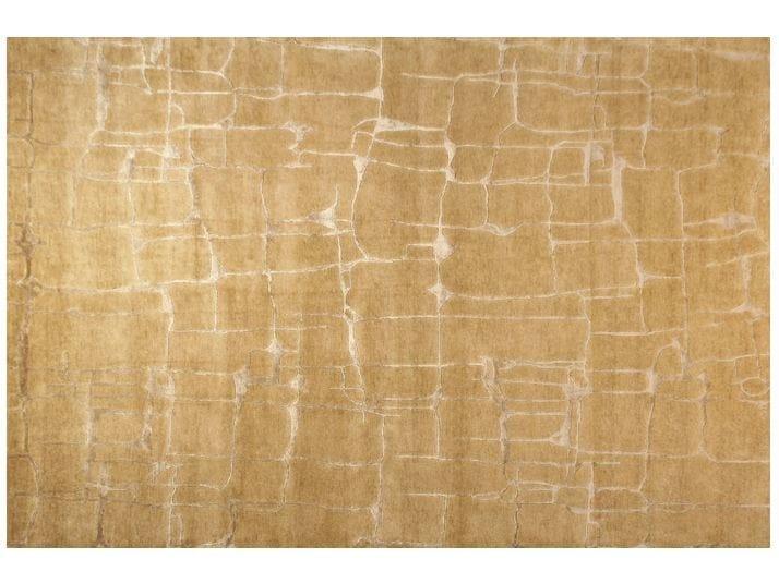 Patterned handmade rectangular rug COLOMBO LIGHT GOLD - EDITION BOUGAINVILLE