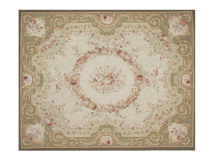 Patterned rectangular wool rug BAGATELLE - EDITION BOUGAINVILLE
