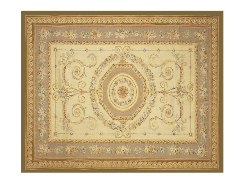 Patterned rectangular wool rug BEAU SEJOUR - EDITION BOUGAINVILLE