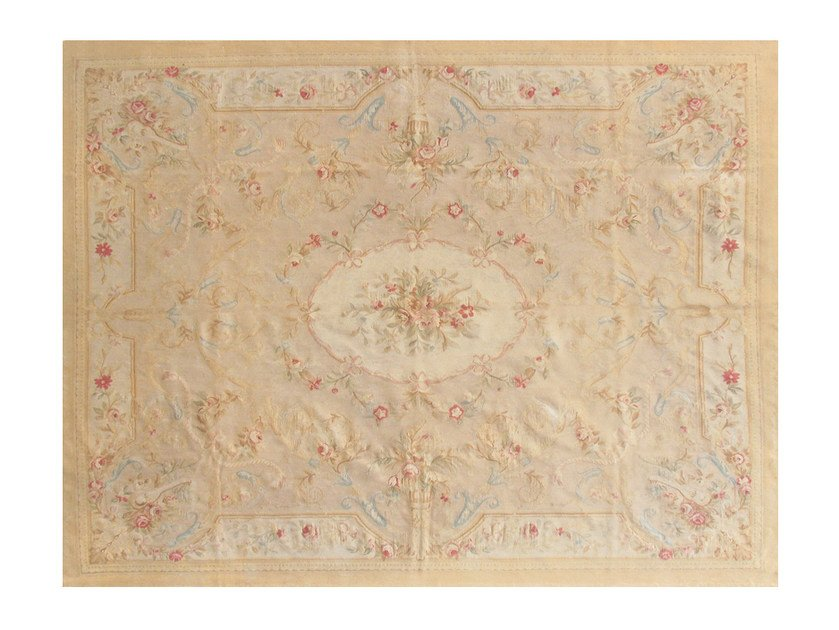 Patterned rectangular wool rug BEAUMONT - EDITION BOUGAINVILLE