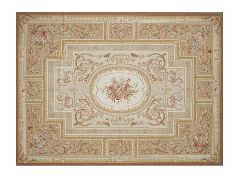 Patterned rectangular wool rug BEL AIR - EDITION BOUGAINVILLE