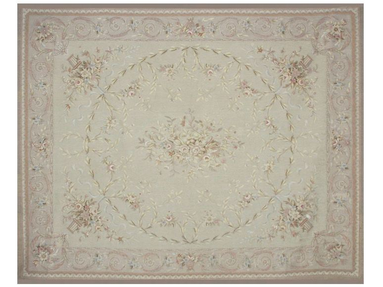Patterned rectangular wool rug ISABEAU - EDITION BOUGAINVILLE