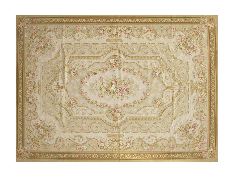 Patterned rectangular wool rug LA BORIE by EDITION BOUGAINVILLE