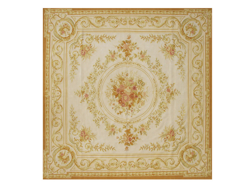 Patterned square wool rug LA NAPOULE by EDITION BOUGAINVILLE
