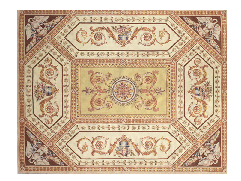 Patterned rectangular wool rug LAFFITTE - EDITION BOUGAINVILLE