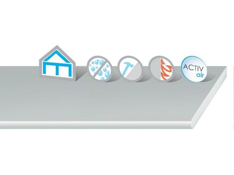 Moisture resistant gypsum fiber ceiling tiles DuraGyp Activ'Air® - Saint-Gobain Gyproc