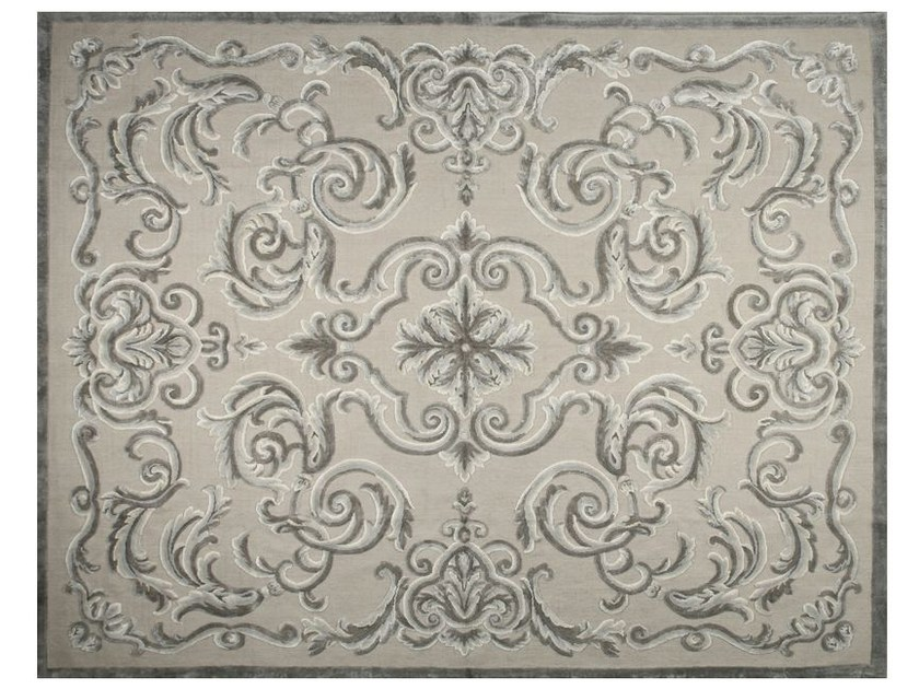 Patterned rectangular rug CARDINAL FICELLE by EDITION BOUGAINVILLE
