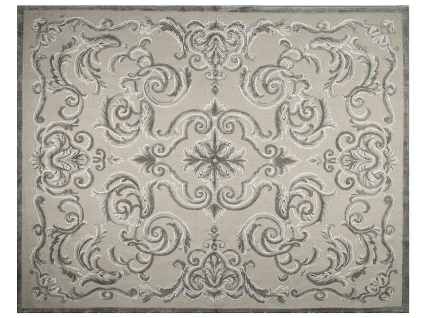 Patterned rectangular rug CARDINAL FICELLE - EDITION BOUGAINVILLE