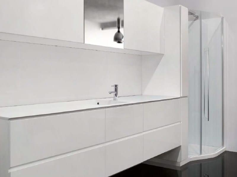 Cristalplant® washbasin countertop FLEXIA | Washbasin countertop - GEROMIN GIUSEPPE