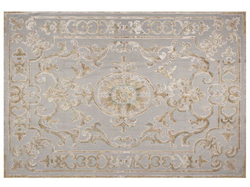 Contemporary style patterned rug POMPADOUR PASTEL - EDITION BOUGAINVILLE