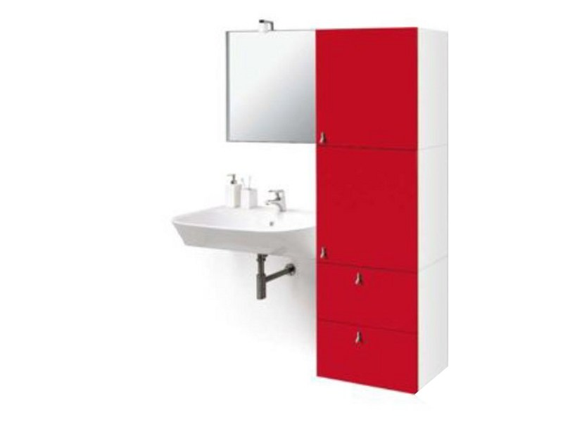 Modular bathroom cabinet with doors RIKO | Bathroom cabinet - GEROMIN GIUSEPPE