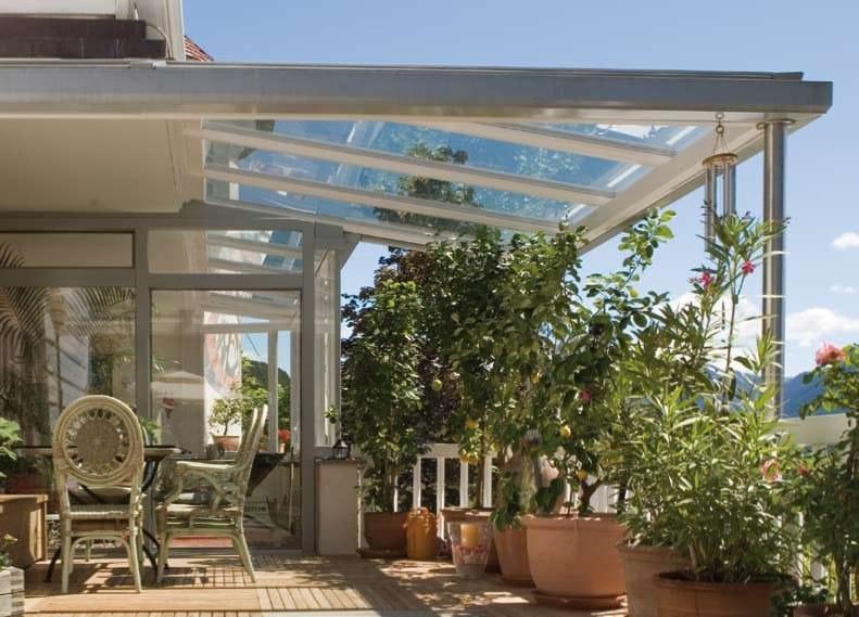 tettoia tettoia in vetro finstral