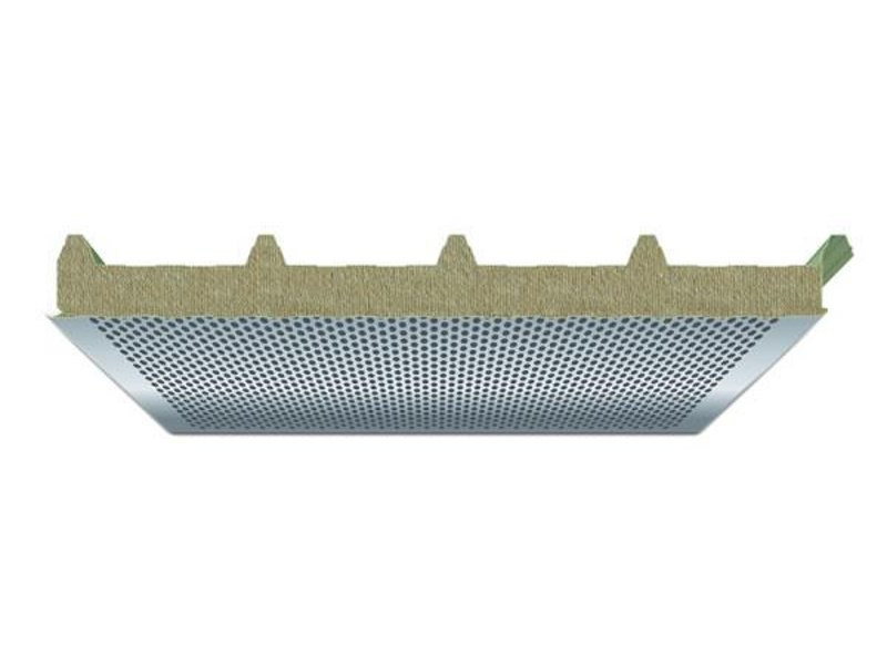 Sound insulation and sound absorbing panel in mineral fibre PENTA WA - ITALPANNELLI