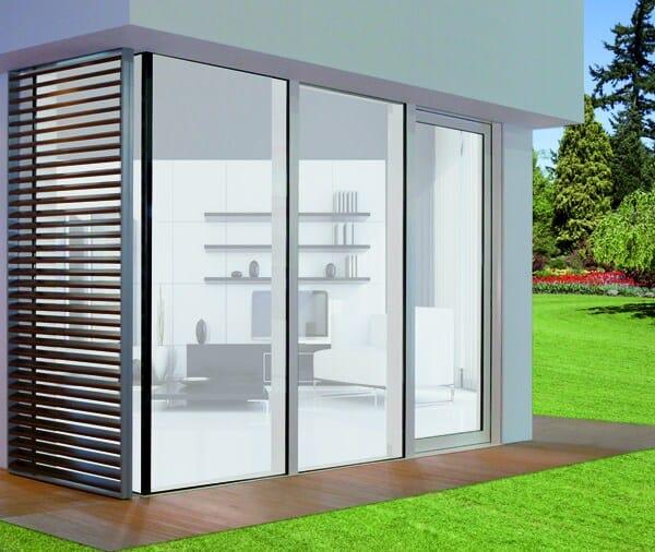 Finestra alzante scorrevole in alluminio e legno con for Uniform alluminio