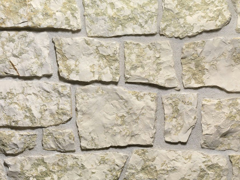 Natural stone finish BIANCO VERDE | Natural stone wall tiles by B&B Rivestimenti Naturali