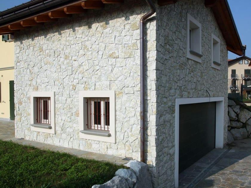 Rivestimento di facciata in pietra naturale BIANCO VERDE ...