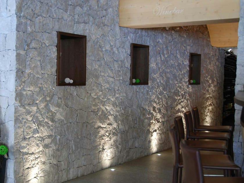Rivestimento di facciata in pietra naturale dolomia b b - Pareti rivestite in pietra per interni ...