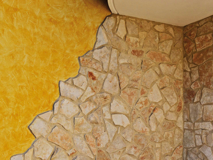 Gialla rivestimento in pietra naturale by b b rivestimenti naturali - Rivestimenti in pietra naturale per interni ...