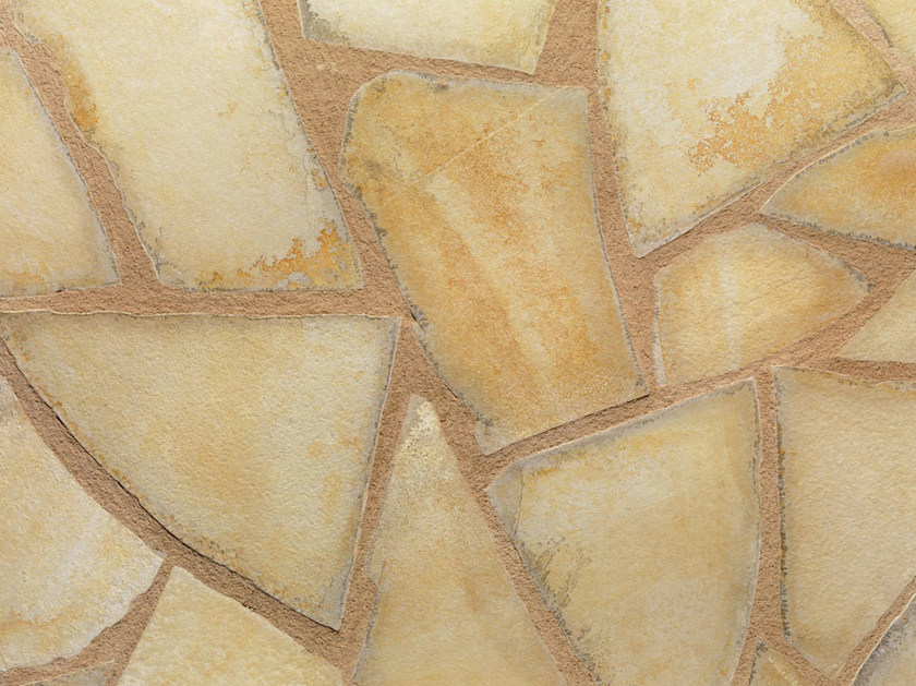 Natural stone finish JOLLY GIALLA | Natural stone wall tiles by B&B Rivestimenti Naturali