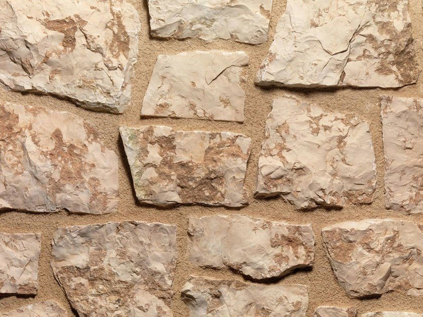 Natural stone finish ROSA | Natural stone wall tiles by B&B Rivestimenti Naturali
