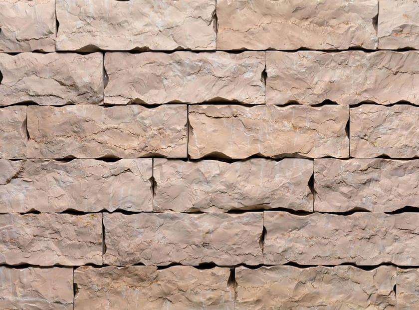 Revestimiento de fachada de piedra natural rosa lm by b b - Fachada de piedra natural ...