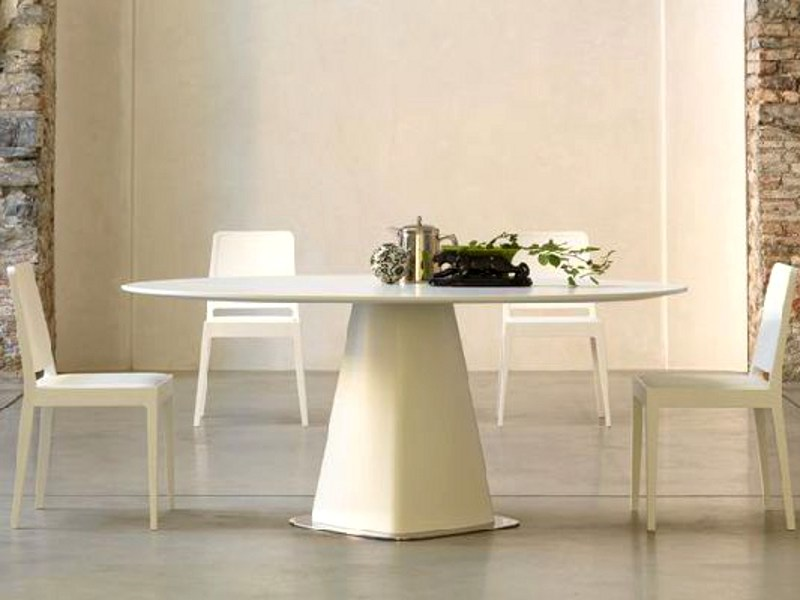Round wooden dining table AGARICO by LINFA DESIGN