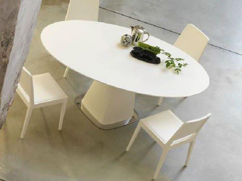 Tavolo da pranzo rotondo in legno agarico linfa design for Tavolo rotondo allungabile design moderno