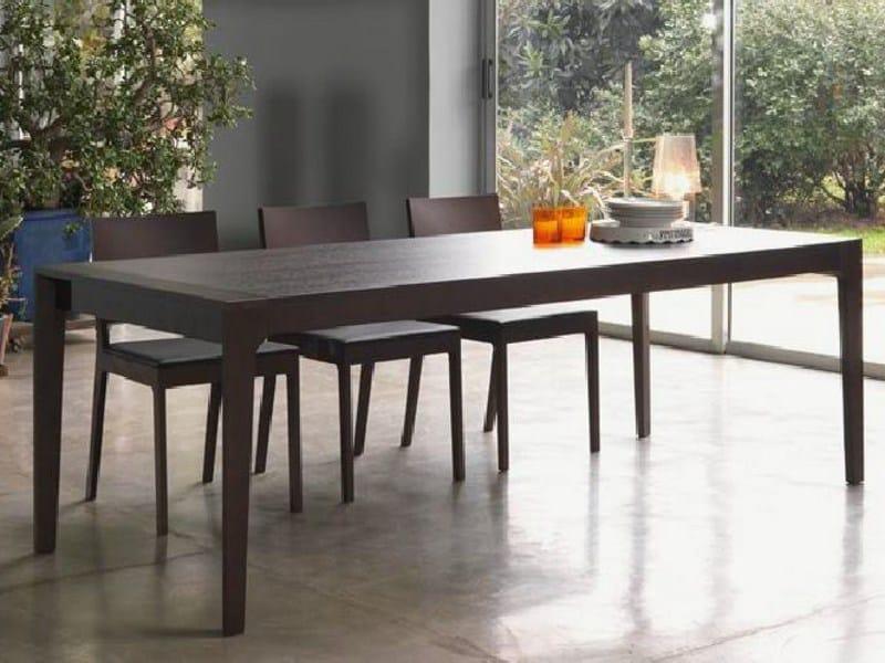 Tavolo allungabile da pranzo every by linfa design for Produttori tavoli allungabili