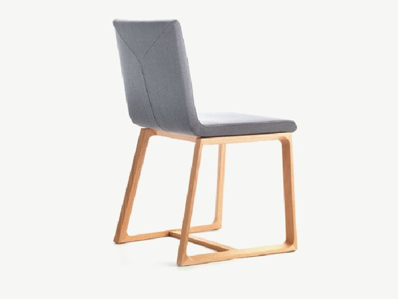 Sled base upholstered chair HALLEY by LINFA DESIGN