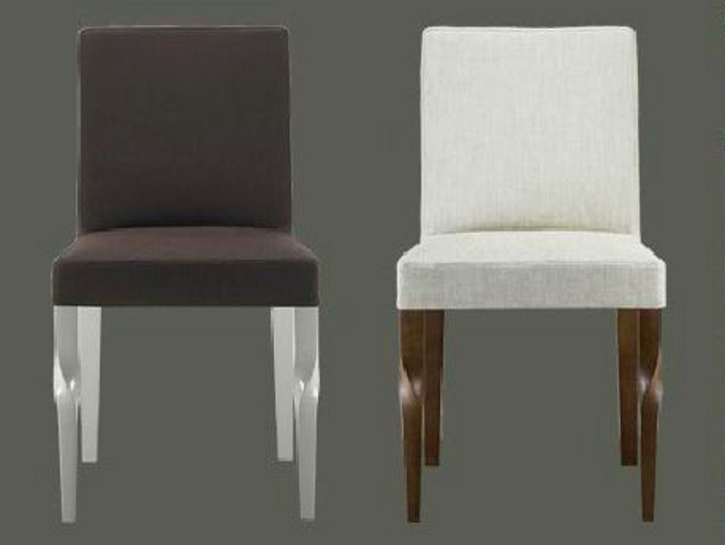 Upholstered wooden chair MORGANA by LINFA DESIGN