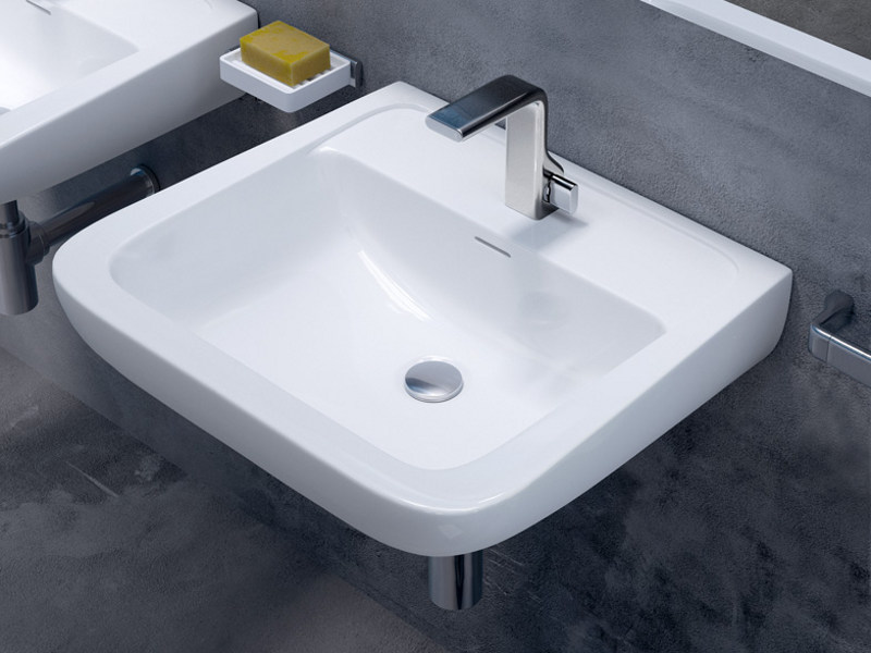 Wall-mounted ceramic washbasin COMO 62   Wall-mounted washbasin - CERAMICA FLAMINIA