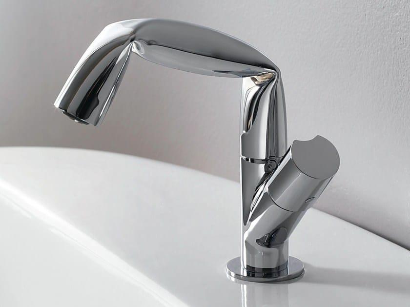 Chrome-plated single handle 1 hole washbasin mixer FOLD   Single handle washbasin mixer by CERAMICA FLAMINIA