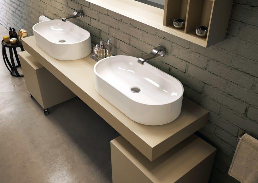 Countertop oval ceramic washbasin PASS   Countertop washbasin - CERAMICA FLAMINIA