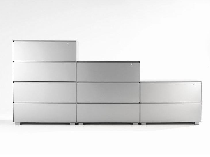 Modular office storage unit with lock PRIMO LATERALS by Dieffebi